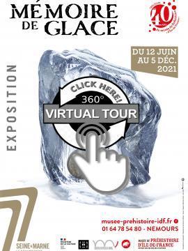 """visuel d'une visite guidée à distance de l'exposition """"Mémoire de glace"""""""