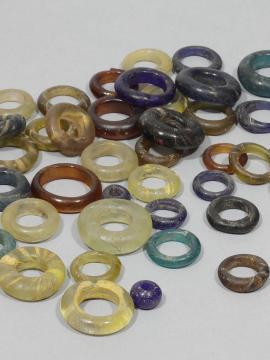 Perles en verre gauloises