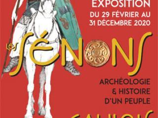 """Affiche de l'exposition """"Les Sénons""""."""
