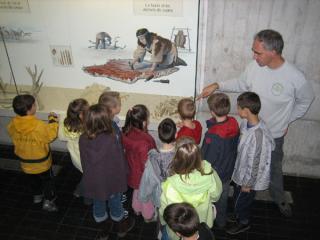 Visite du musée pour les enfants.