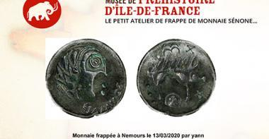 Vignette atelier de frappe de monnaie sénone