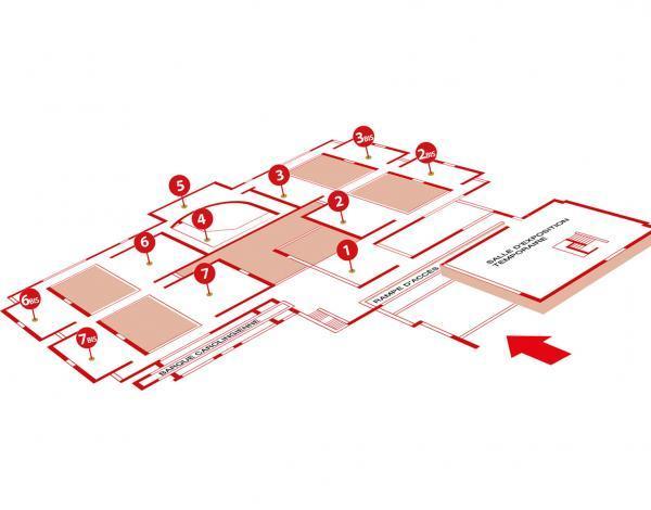 plan des salles du musée