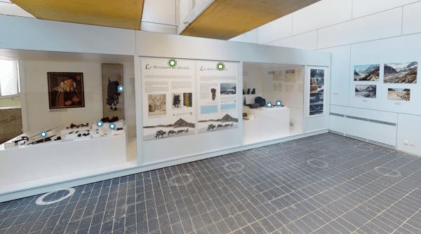 """Vue de la visite virtuelle de l'exposition """"Mémoire de glace"""" présentée au musée du 12 juin au 5 décembre 2021"""