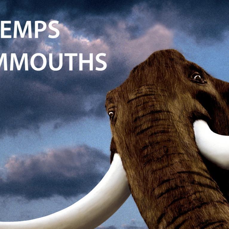 Bannière exposition Au temps des mammouths