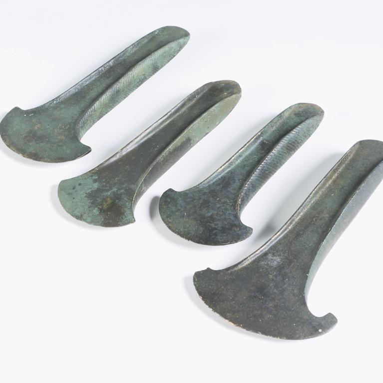 Haches en bronze découvertes à Misy-sur-Yonne (77)