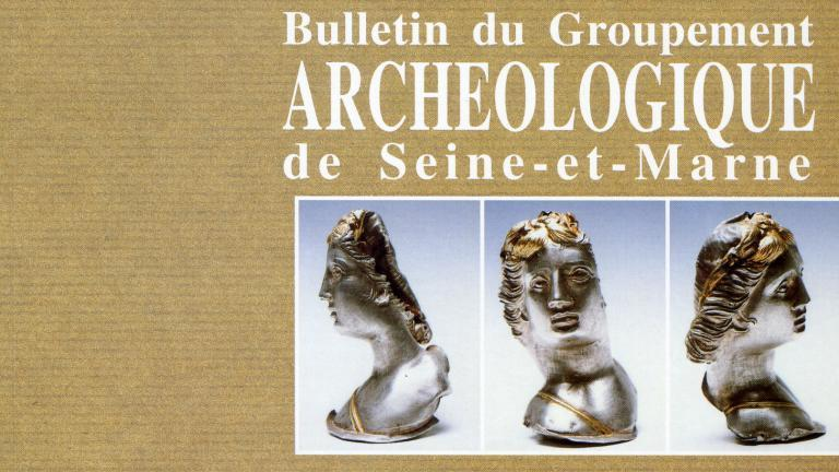 """Couverture de la revue intitulée """"Mémoirs archéologiques de Seine-et-Marne)"""