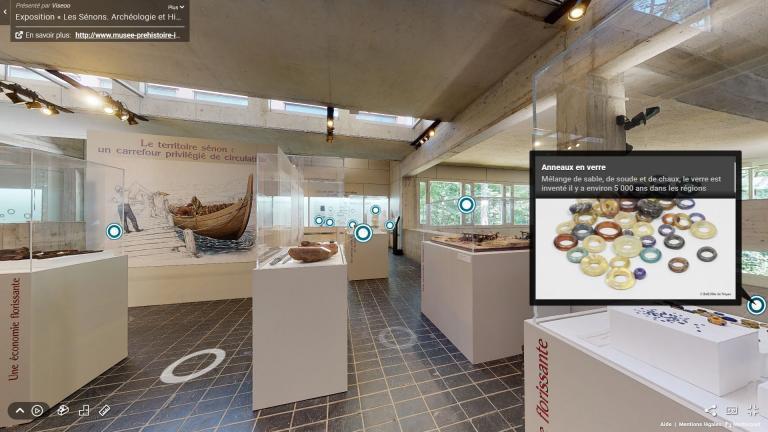 """Visite virtuelle de l'exposition """"Les Sénons. Archéologie & Histoire d'un peuple gaulois"""""""