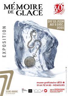 """affiche de l'exposition """"Mémoire de glace"""""""
